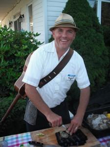 Robert Pendergast Shucking Oysters